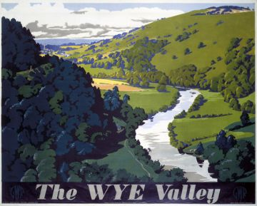The Wye Valley, England & Wales Travel Poster Art Print